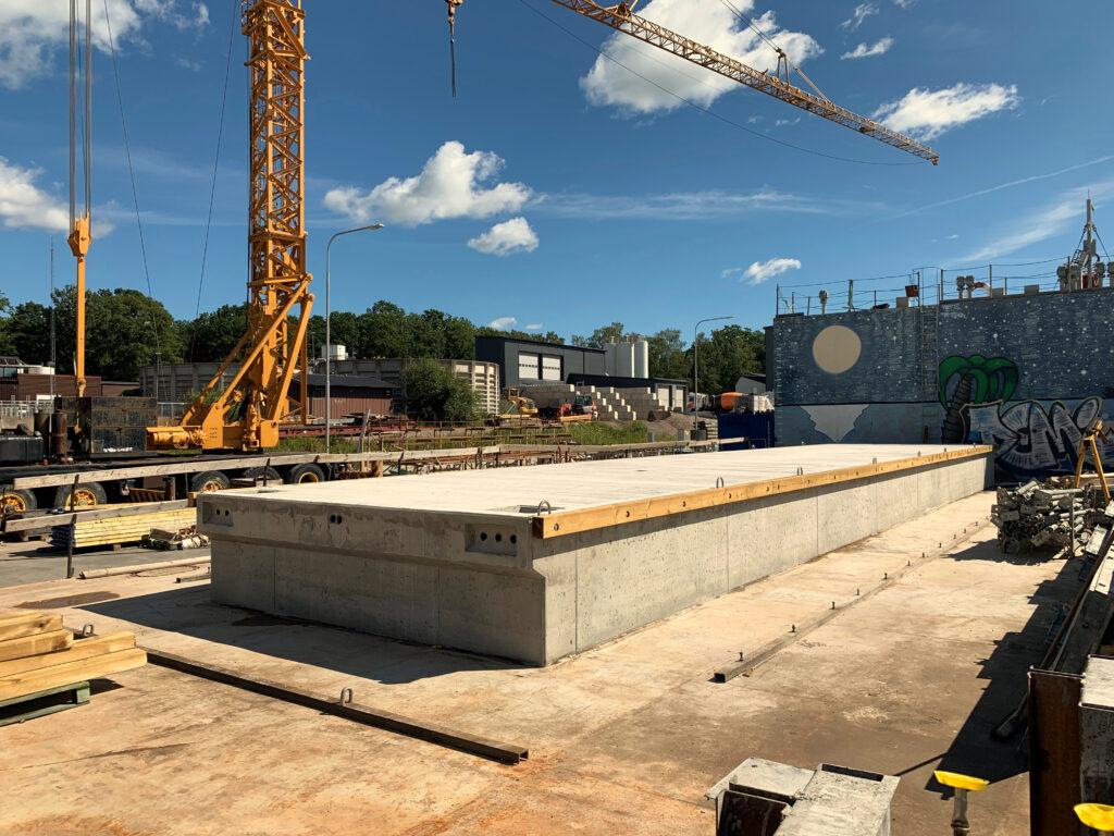 Flytbryggor betongpontoner betongbrygga Västervik